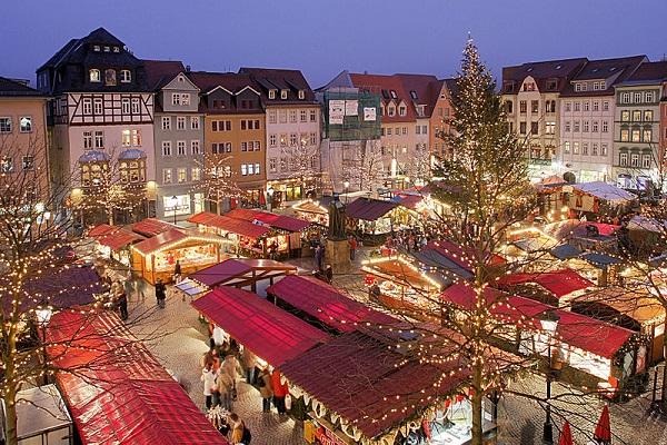 Jena Marktplatz im Advent