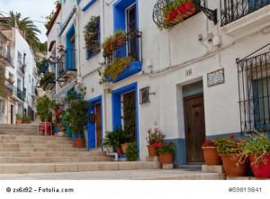 Malerische Altstadt von Alicante.