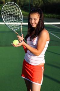 Tennisspielen in Cervia an der Adriaküste.
