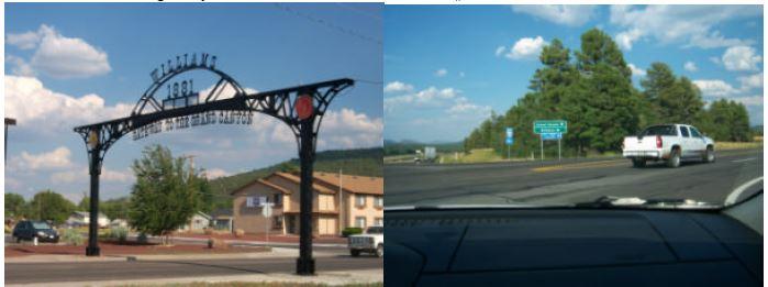 Autostopp in Williams