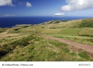 Blick von Flores auf Corvo - Azoren