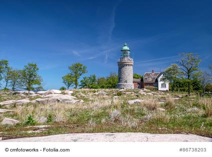 Leuchtturm Hammeren Fyr auf Bornholm
